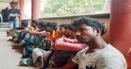 ভেদরগঞ্জের পদ্মা নদীতে জাটকা ধরায় ১১ জেলের দন্ড
